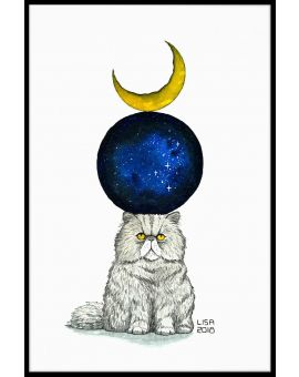 Cosmic Monday Cat Poster