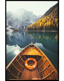 Braies Lake Dolomites Poster