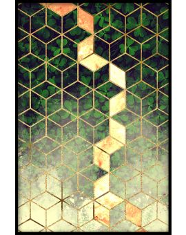 Abstract Leaf Cubes Poster