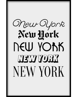 New York Typography Poster