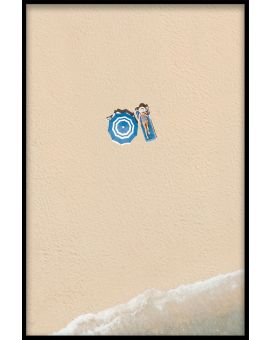 Aerial Beach Relax Poster